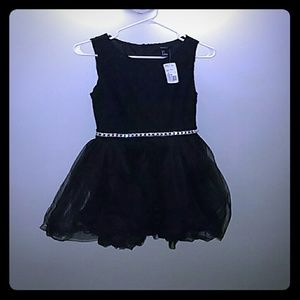 Forever 21 black tulle jewel dress small